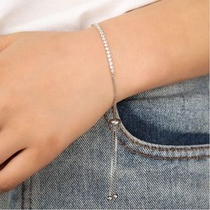 Jewelry - Rose Gold Square Crystal Tennis Bracelet